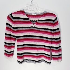 Energie Lightweight Striped Sweater sz Large